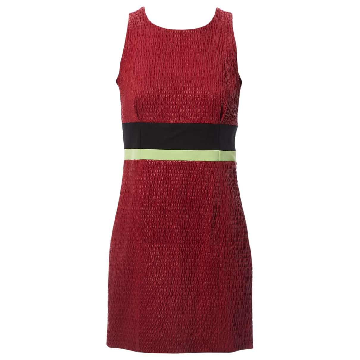 Louis Vuitton \N Burgundy Leather dress for Women 38 FR