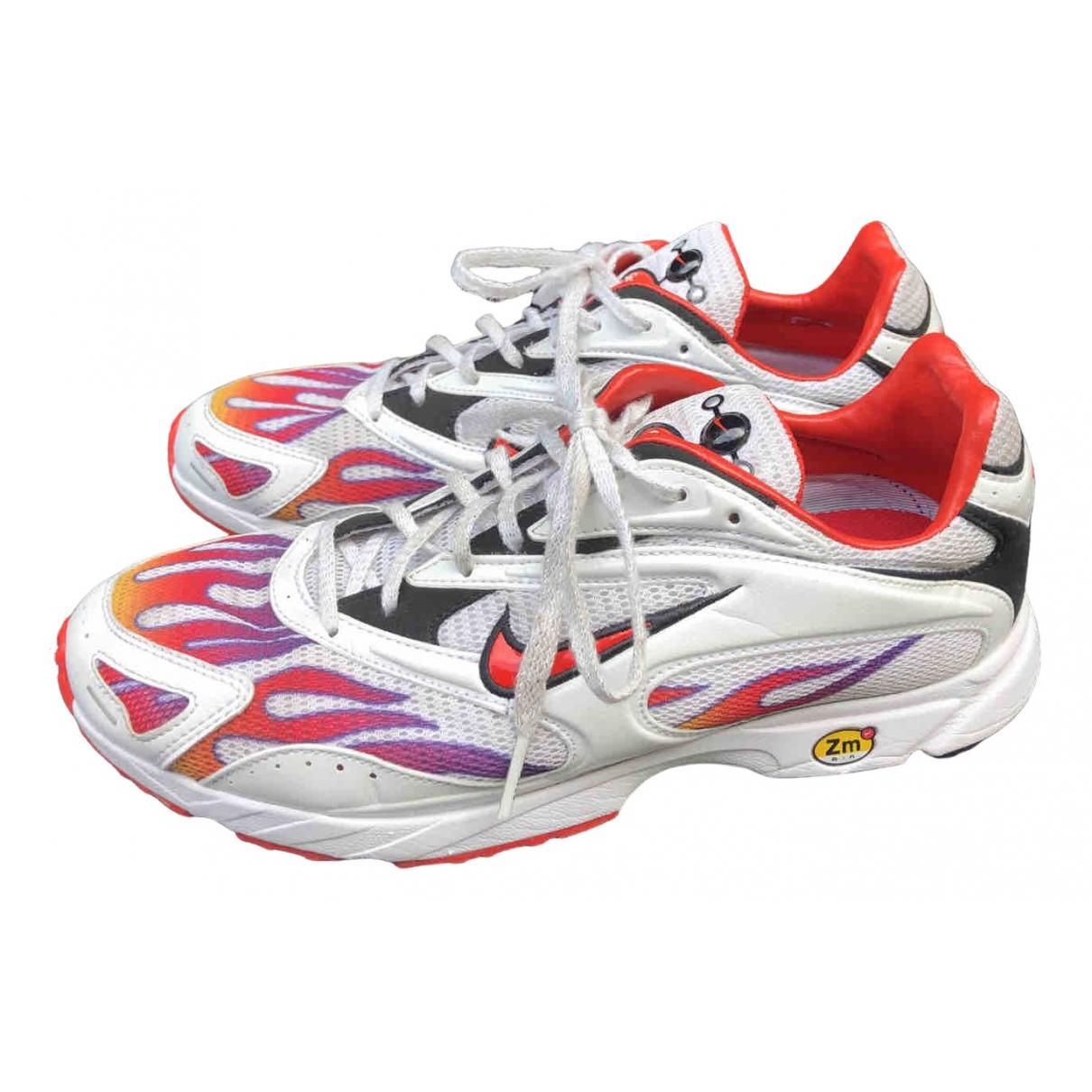 Nike X Supreme Zoom Streak Spectrum Plus White Leather Trainers for Women 7.5 UK