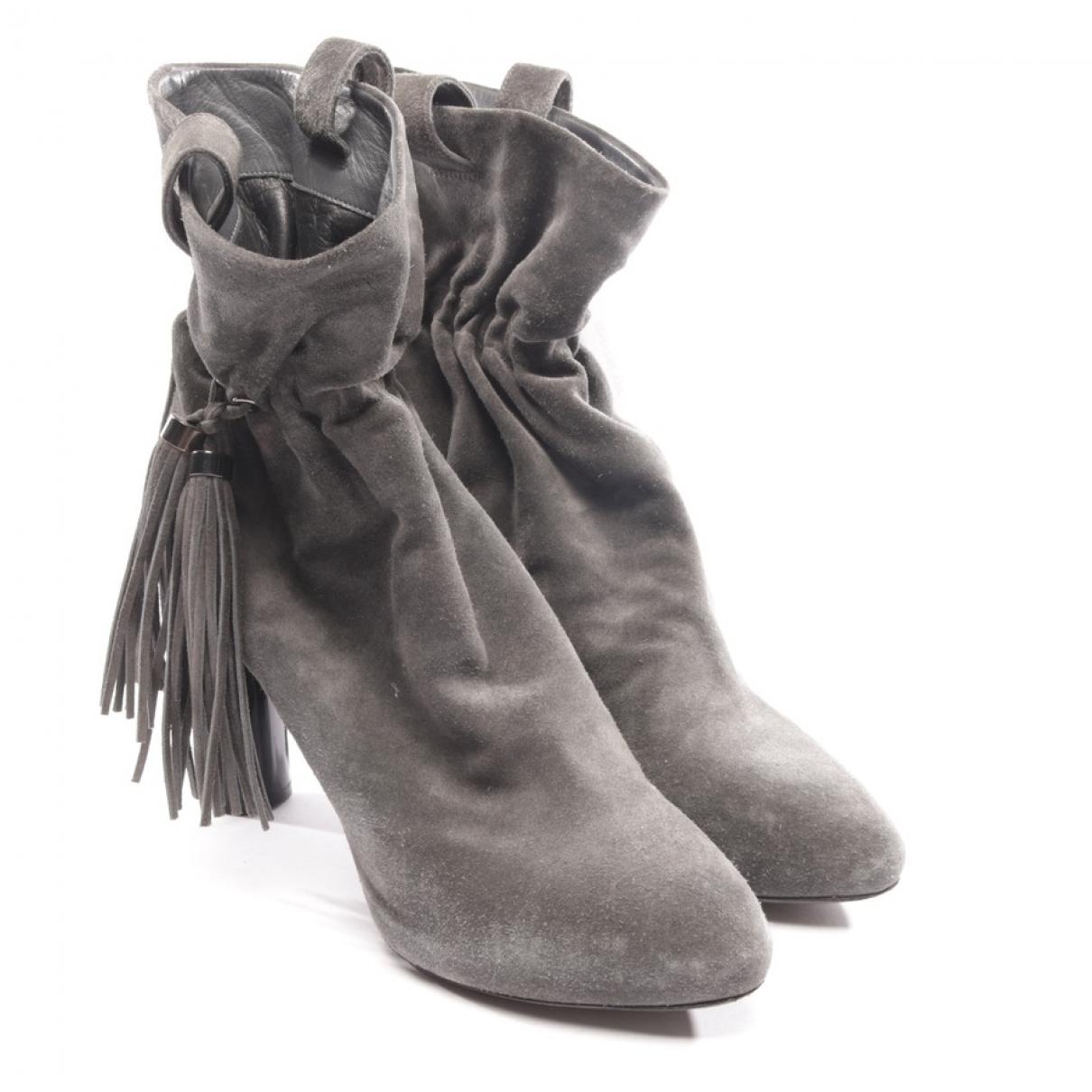 Celine - Boots   pour femme en suede - gris