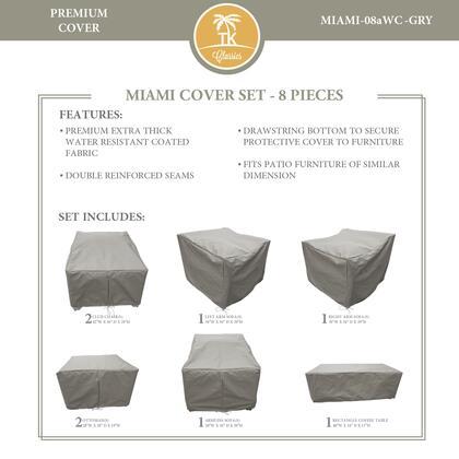 Miami MIAMI-08aWC-GRY MIAMI-08a Protective Cover Set in
