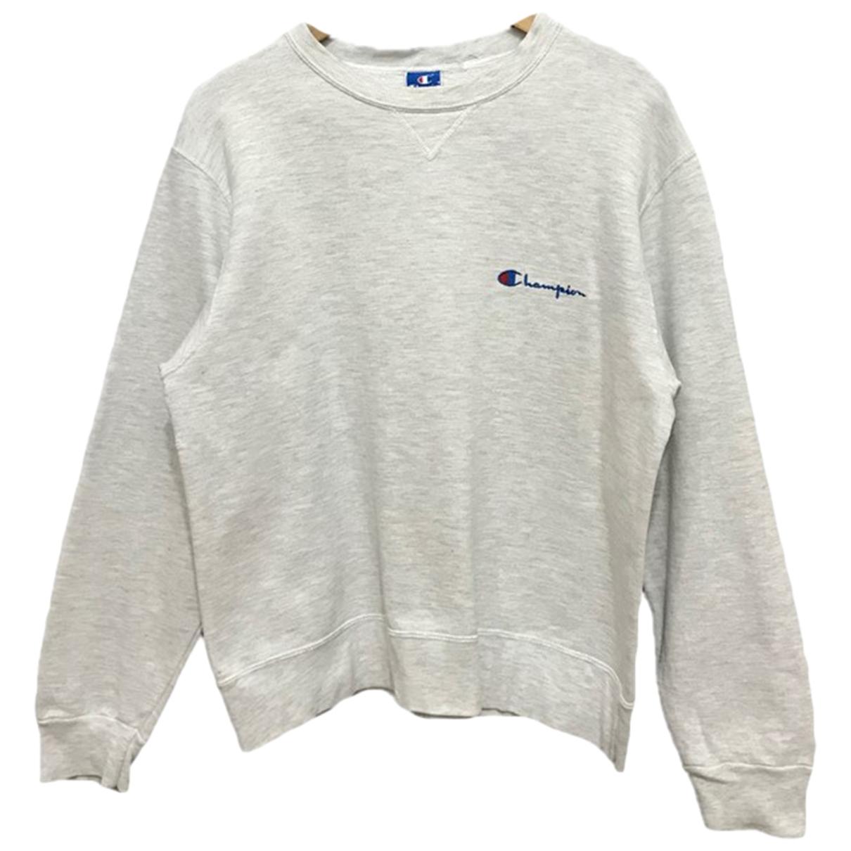 Champion \N Pullover in  Silber Baumwolle