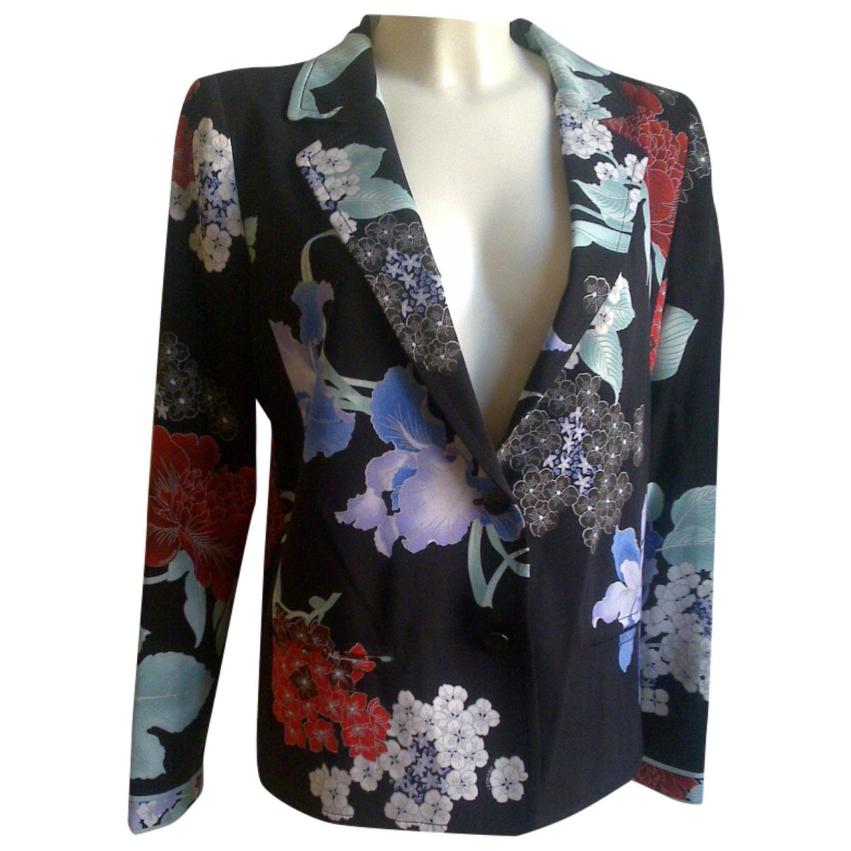 Leonard - Veste   pour femme en soie - multicolore