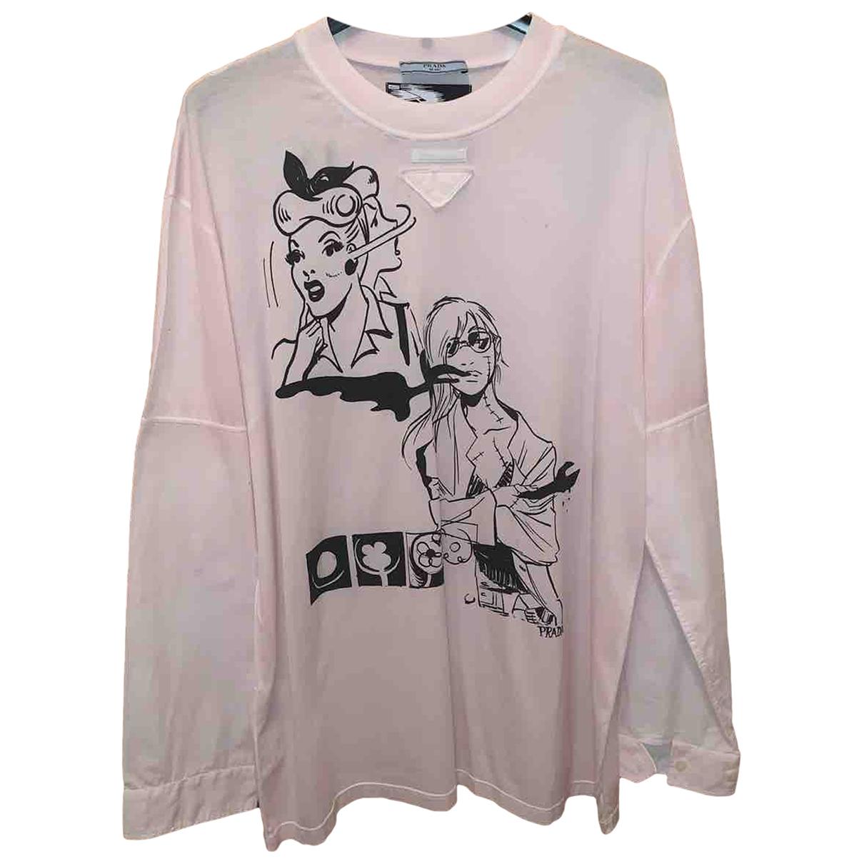 Prada - Tee shirts   pour homme en coton - rose