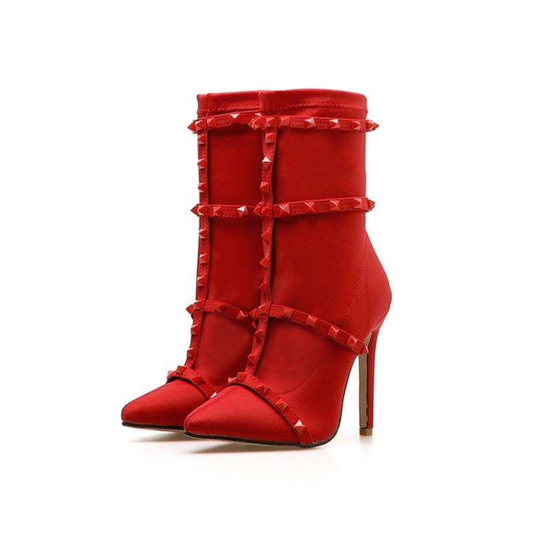 Ericdress Rivet Pointed Toe Stiletto Heel Women's Sandals