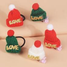 5 piezas accesorio de pelo de niñitas con diseño de sombrero de color al azar