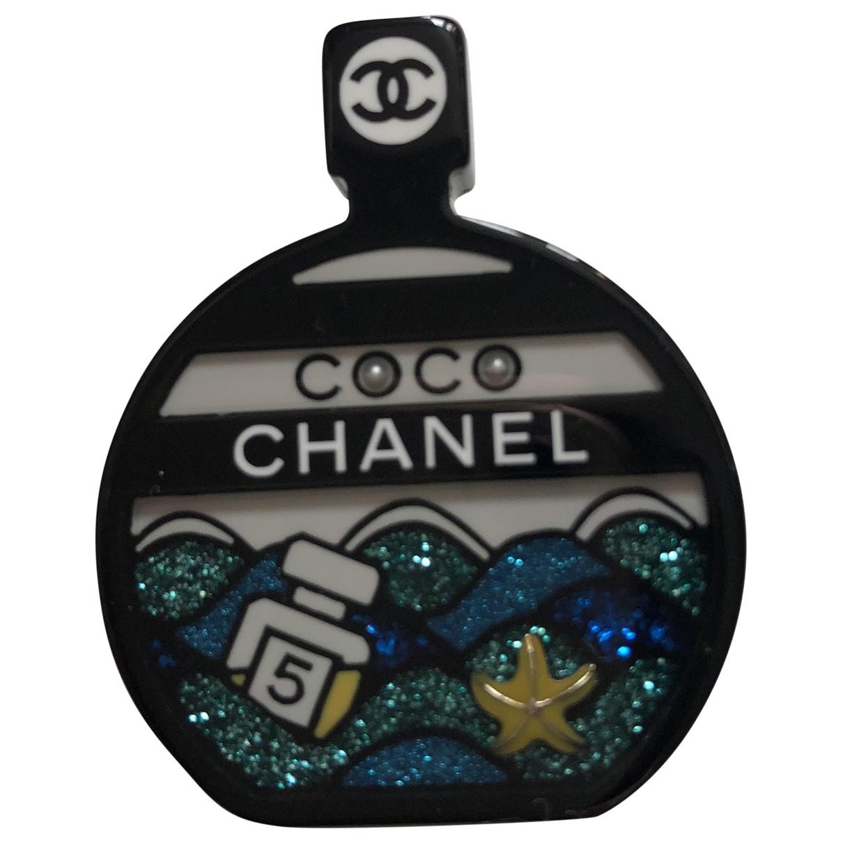 Broche CHANEL en Plastico Azul Chanel