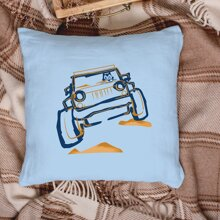Car Print Cushion Cover Without Filler