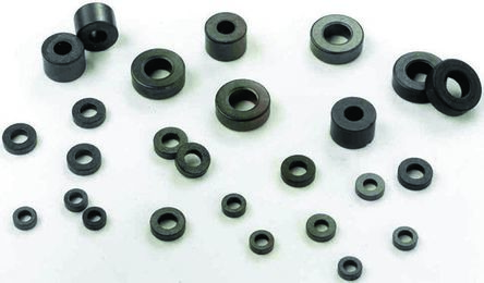 Fair-Rite Ferrite Ring Toroid Core, For: Inductive Component, 21 (Dia.) x 6.35mm (5)