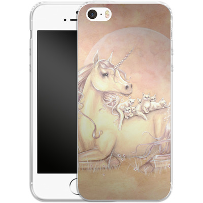 Apple iPhone 5s Silikon Handyhuelle - Purrfect Friends von Selina Fenech