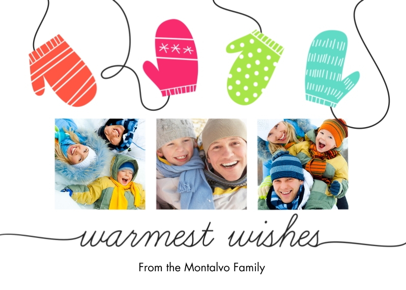 Light & Bright 5x7 Folded Cards, Standard Cardstock 85lb, Card & Stationery -Warmest Wishes
