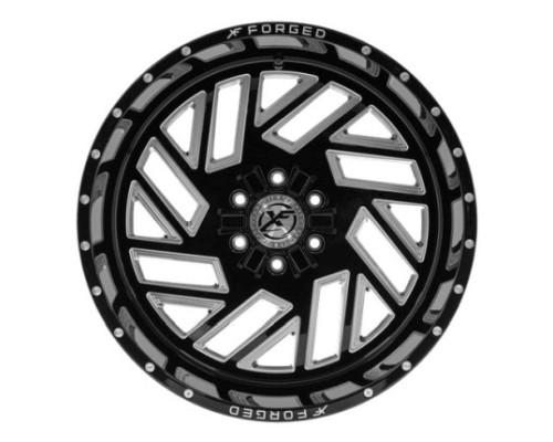 XF Off-Road XFX-304 Wheel 20x10 8x165.1|8x170 -24mm Black Milled Window