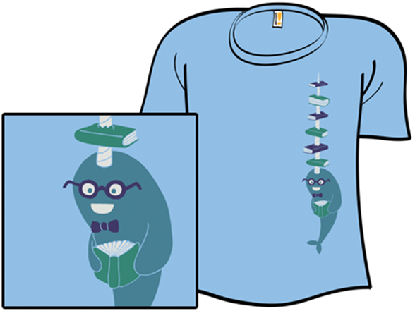 Never Give A Narwhal A Library Card T Shirt