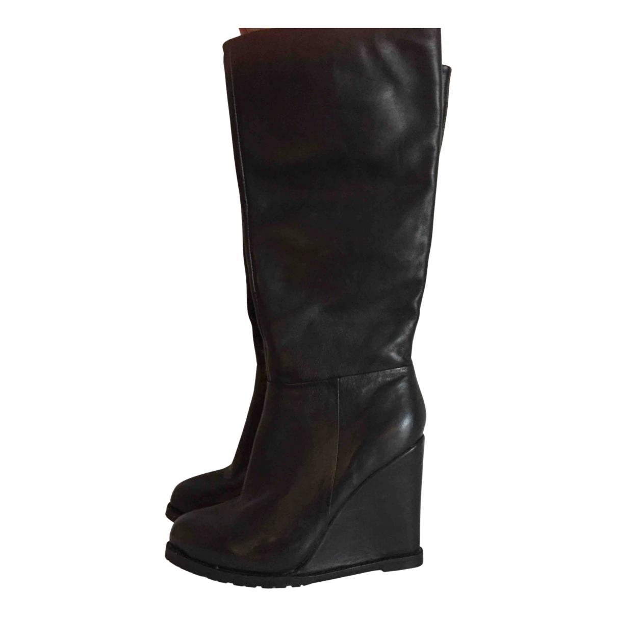 Buffalo \N Stiefel in  Schwarz Leder