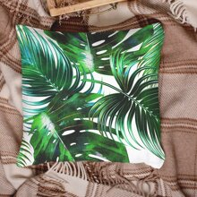 Leaf Print Cushion Cover Without Filler