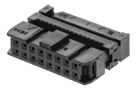 Hirose 16-Way IDC Connector Socket for Cable Mount, 2-Row