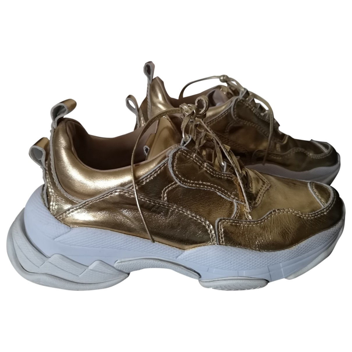 Jeffrey Campbell \N Gold Leather Trainers for Women 7 UK