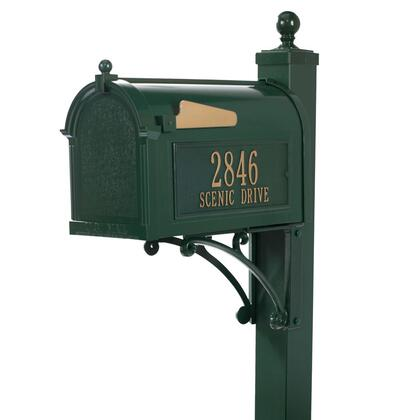 16299 Aluminum Deluxe Capitol Mailbox Package in