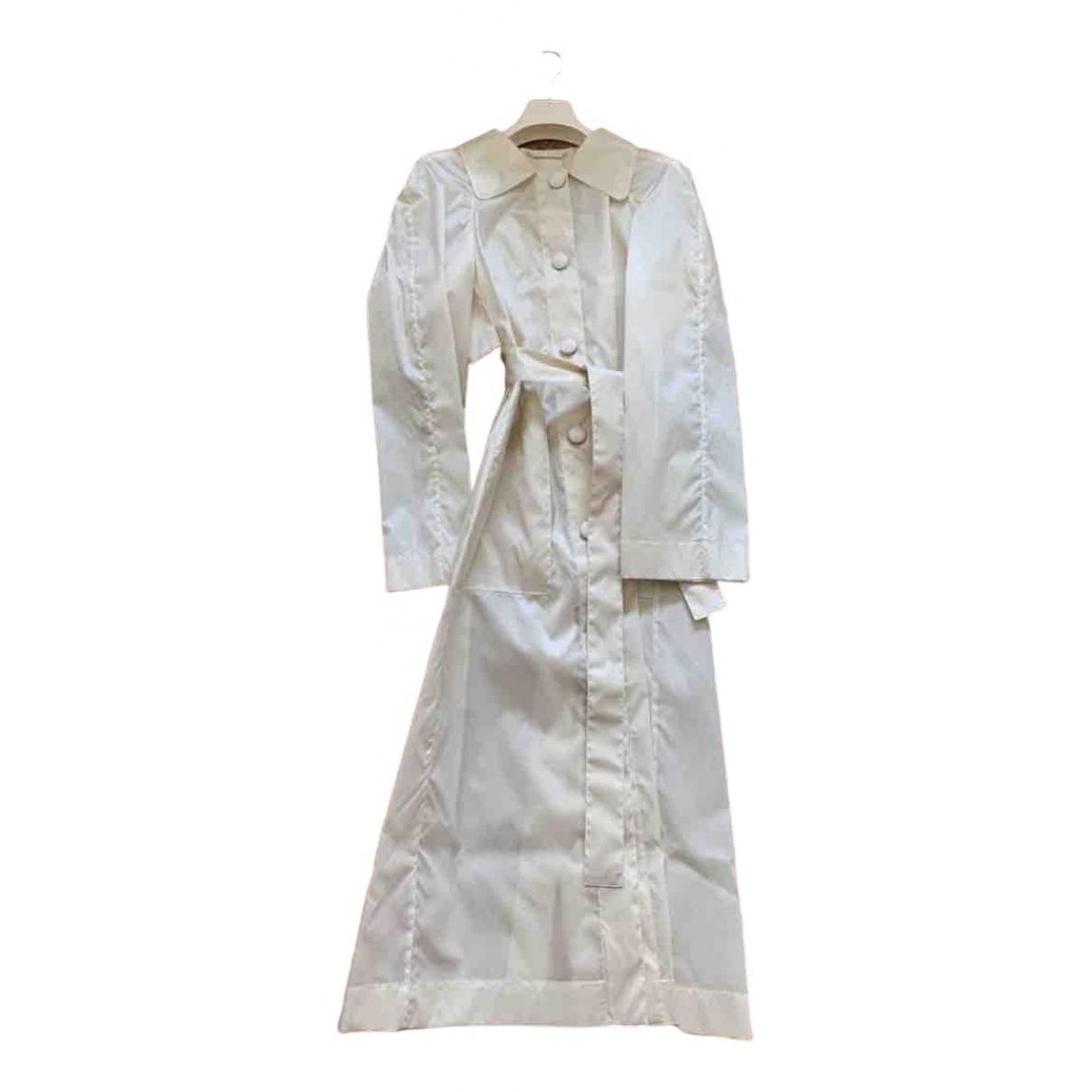 Lemaire - Manteau   pour femme en soie - ecru