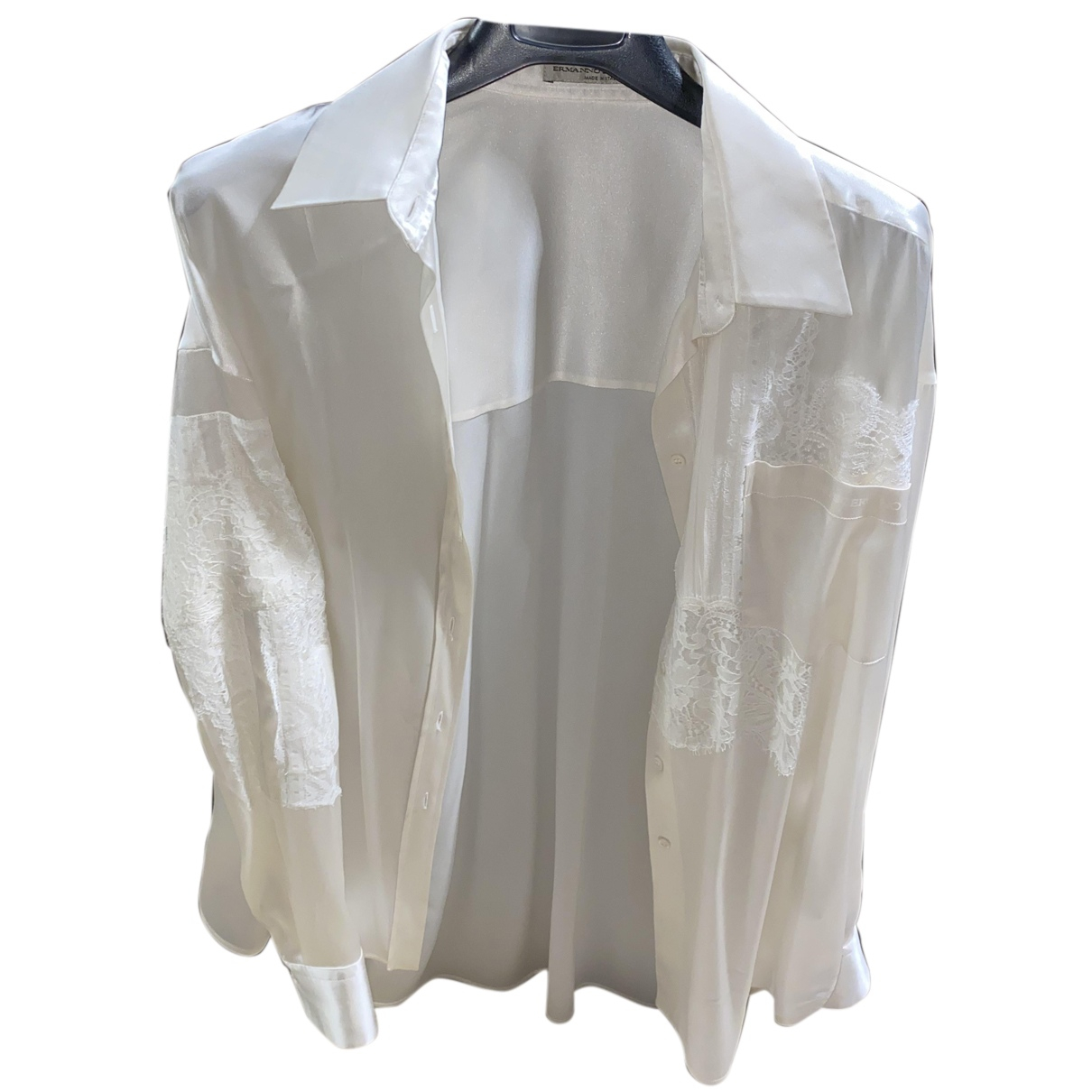 Ermanno Scervino N White Silk  top for Women 42 FR