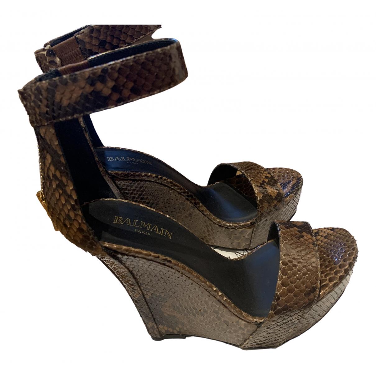 Sandalias de Piton Balmain