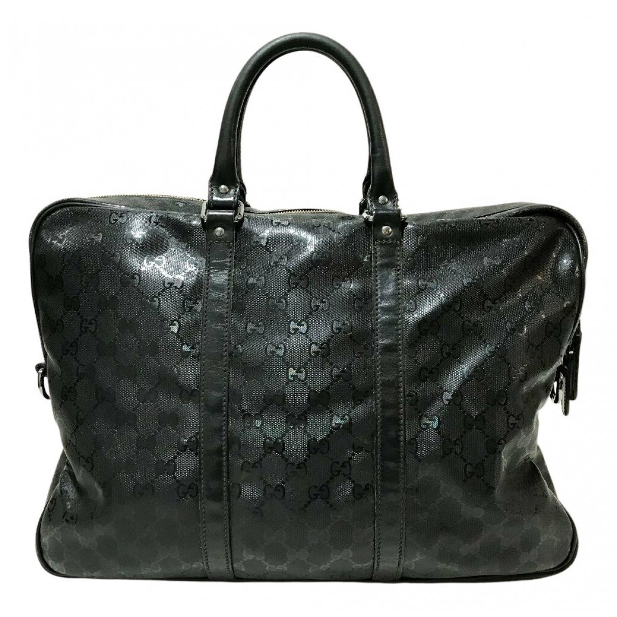 Gucci N Black Cloth Travel bag for Women N