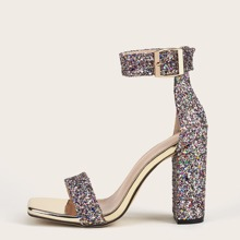Sandalen mit Strass Dekor