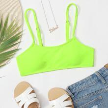 Neon Lime Bikini Top