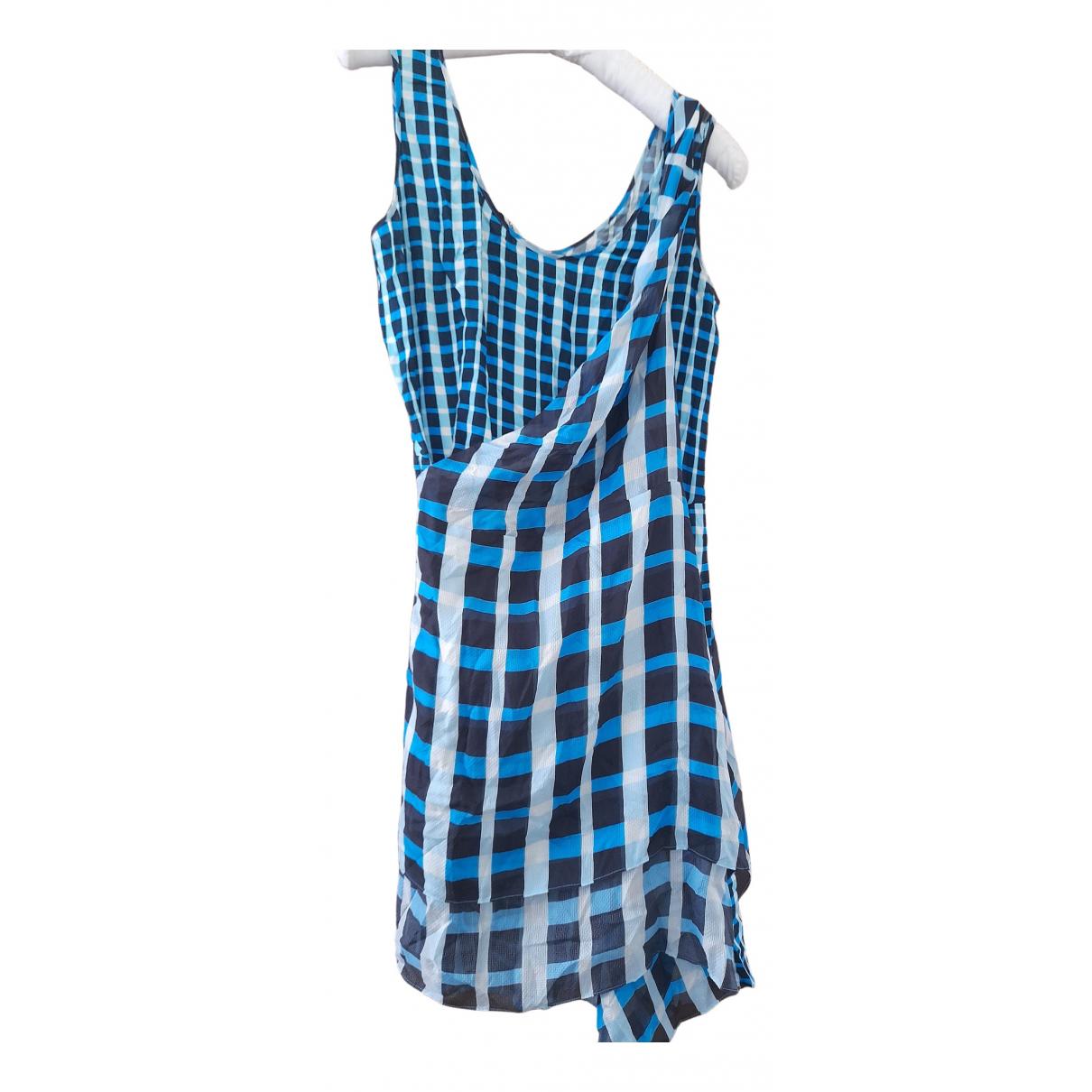 Pollini \N Kleid in  Blau Seide