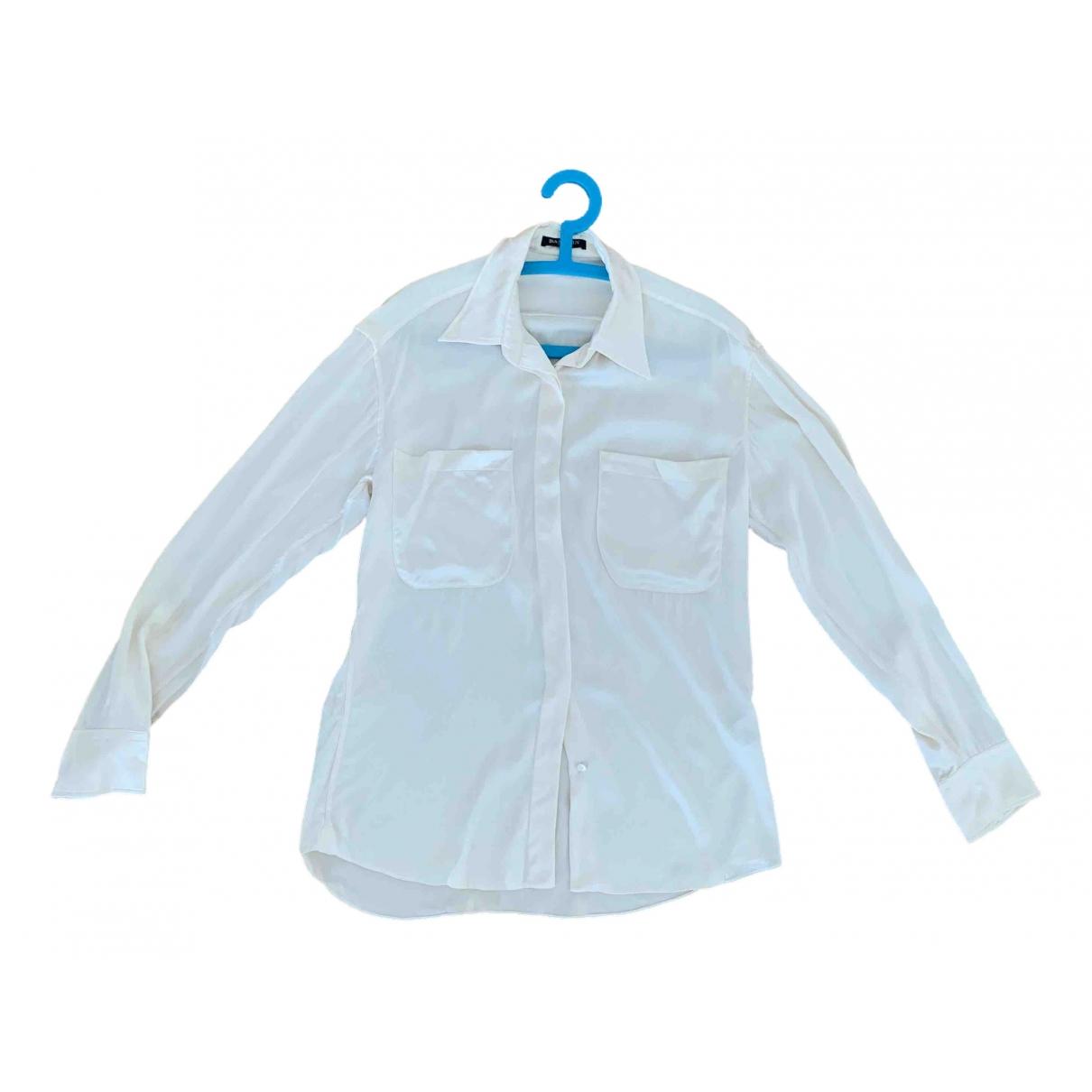 Balmain - Top   pour femme en soie - blanc