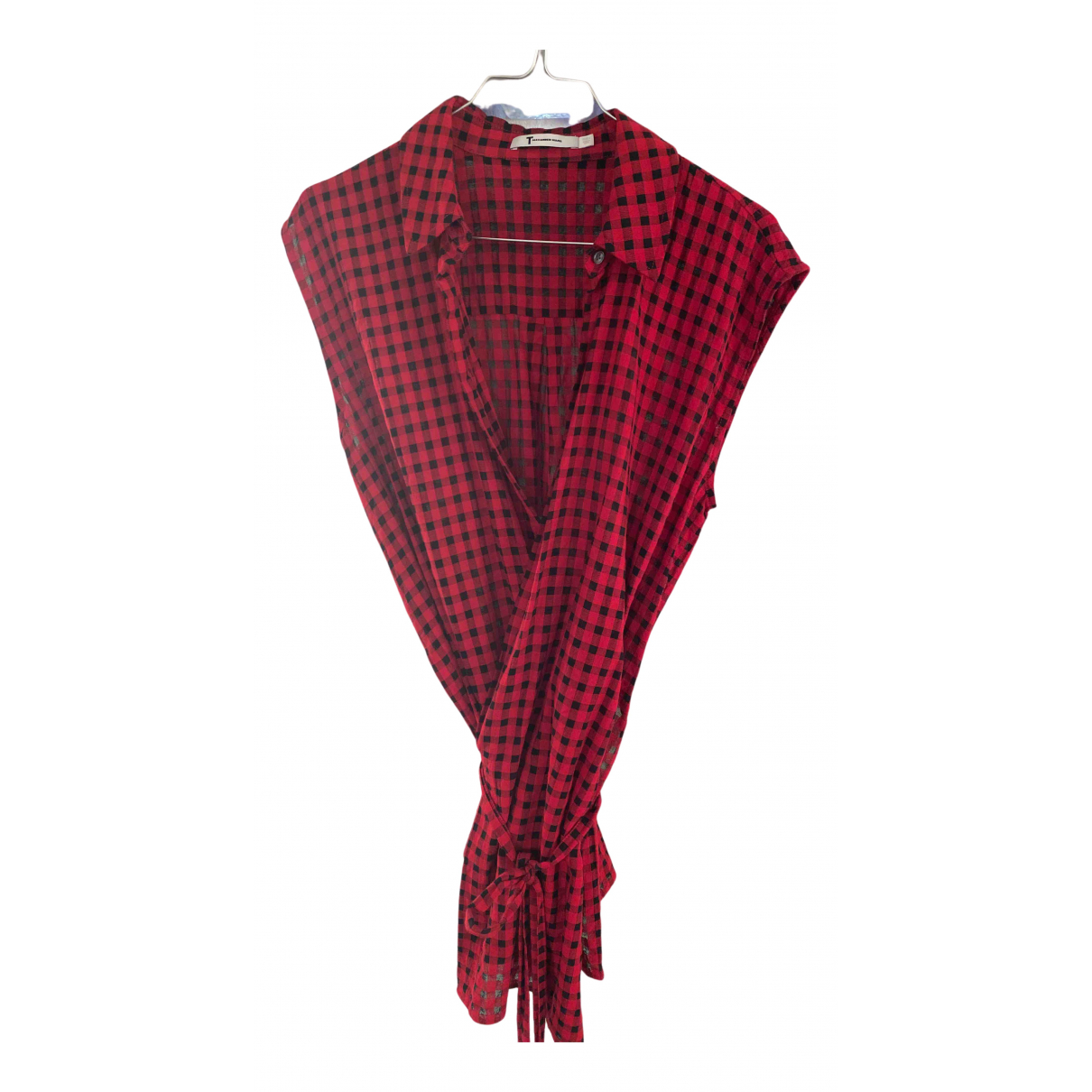 T By Alexander Wang - Top   pour femme - rouge