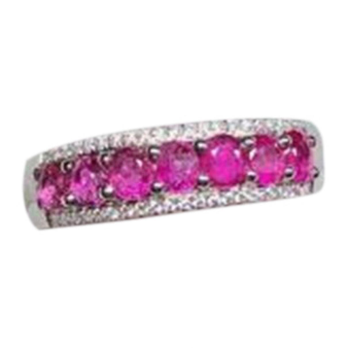 - Bague Saphir pour femme en platine - rose
