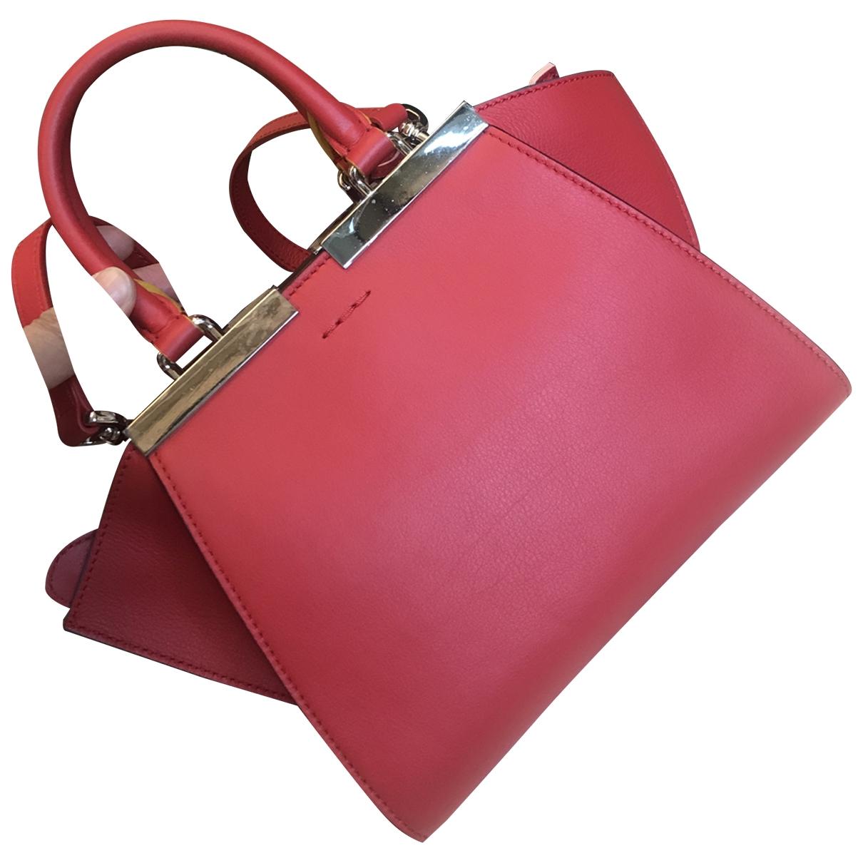 Fendi 3Jours Handtasche in  Rot Leder