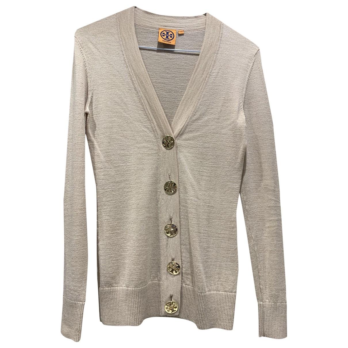 Tory Burch - Pull   pour femme en laine - beige