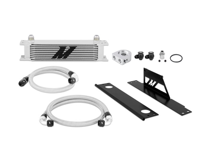 Mishimoto MMOC-WRX-01T Silver Thermostatic Oil Cooler Kit Subaru WRX STI 2.0L 02-05
