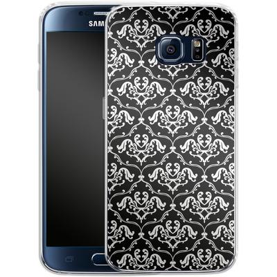 Samsung Galaxy S6 Silikon Handyhuelle - Black French Lillies von caseable Designs