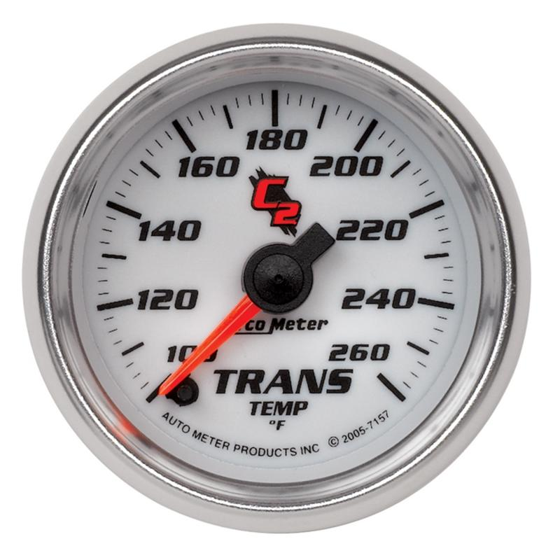 AutoMeter GAUGE; TRANSMISSION TEMP; 2 1/16in.; 100-260deg.F; DIGITAL STEPPER MOTOR; C2