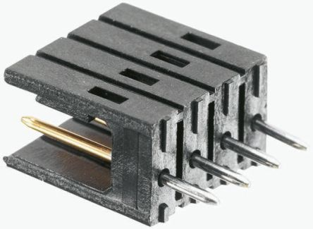 TE Connectivity , AMPMODU MOD II, 5 Way, 1 Row, Right Angle PCB Header (10)