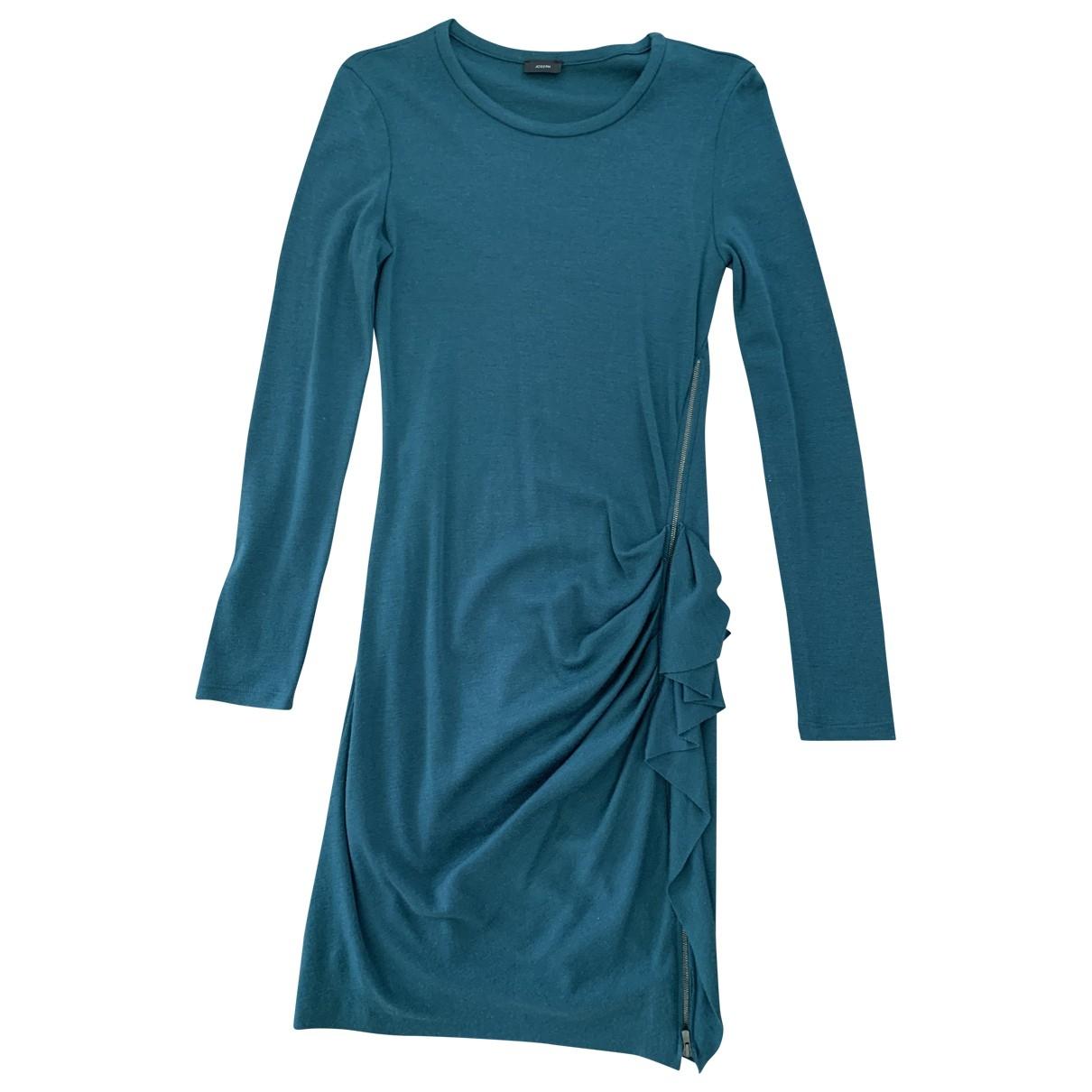 Joseph - Robe   pour femme en laine - bleu