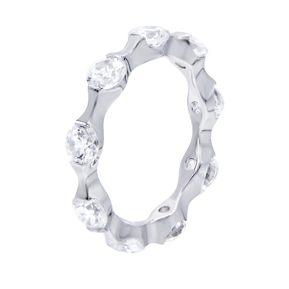 2.6 carat Round Cut Cubic Zirconia Eternity Stackable Wedding Band Ring (6)