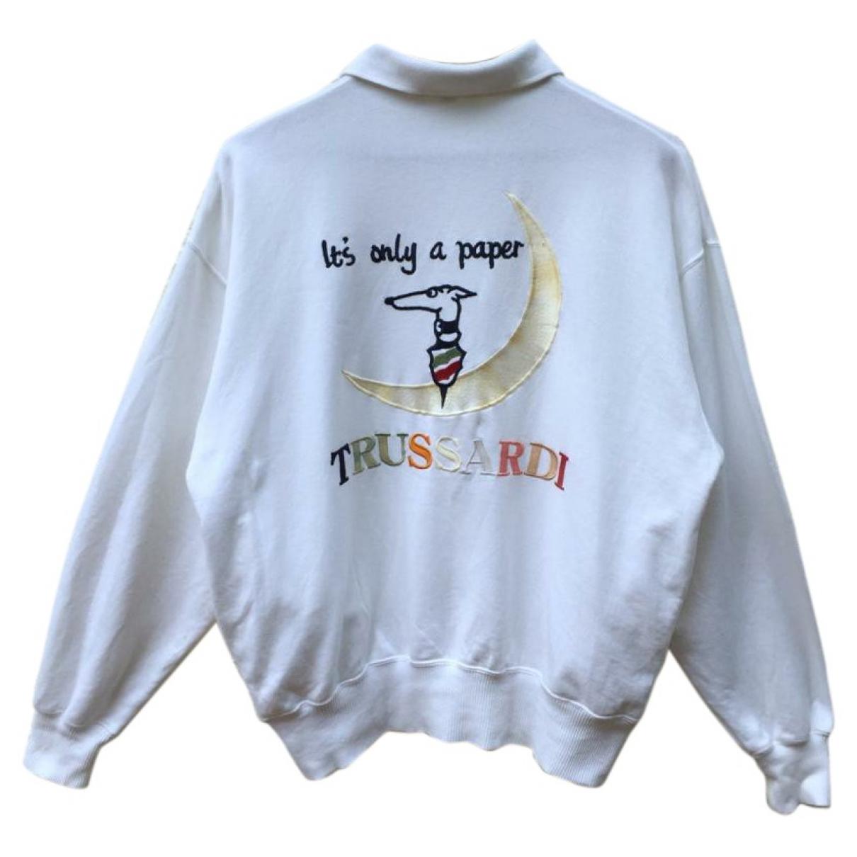 Trussardi \N Pullover.Westen.Sweatshirts  in  Weiss Baumwolle