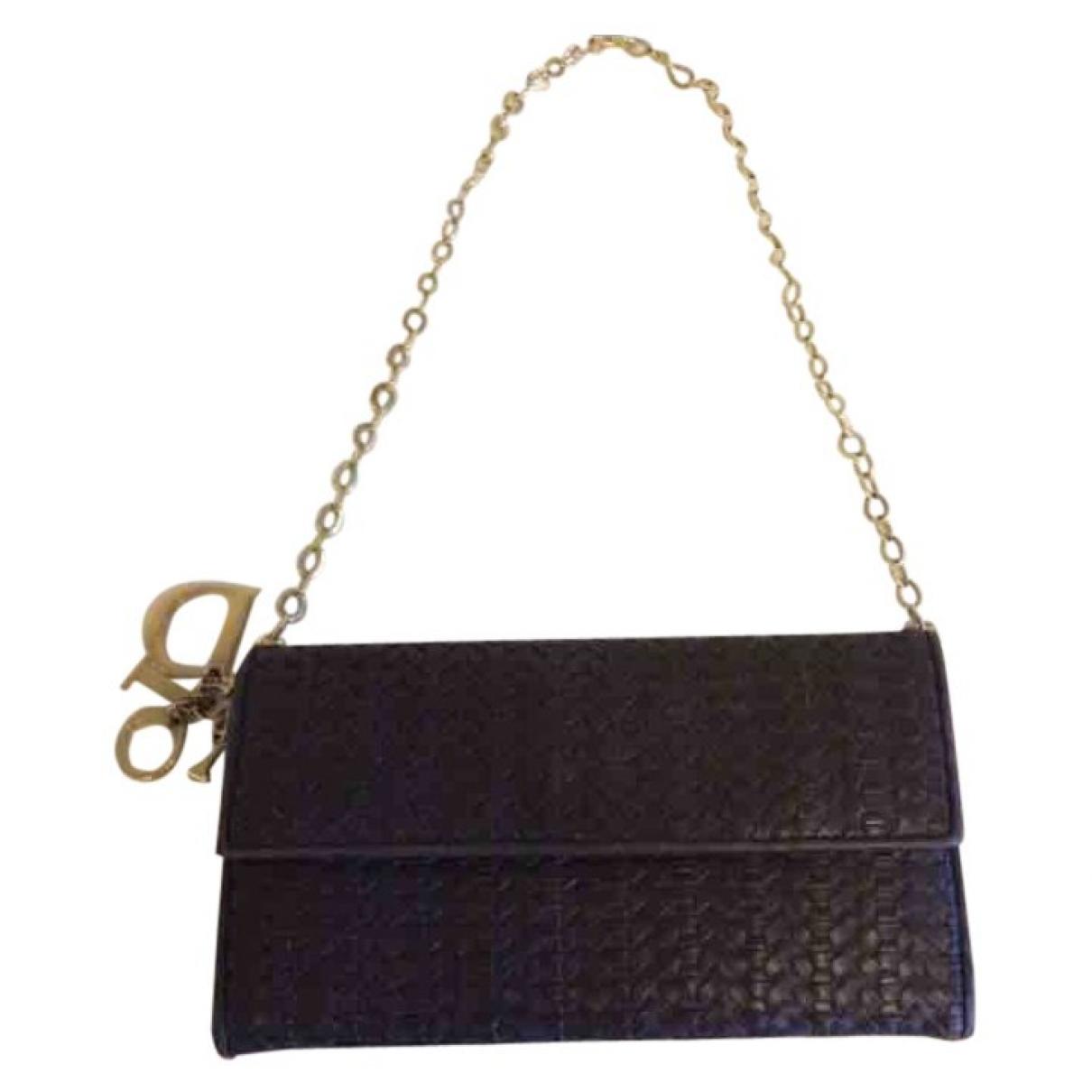 Dior Lady Dior Brown Leather Clutch bag for Women \N