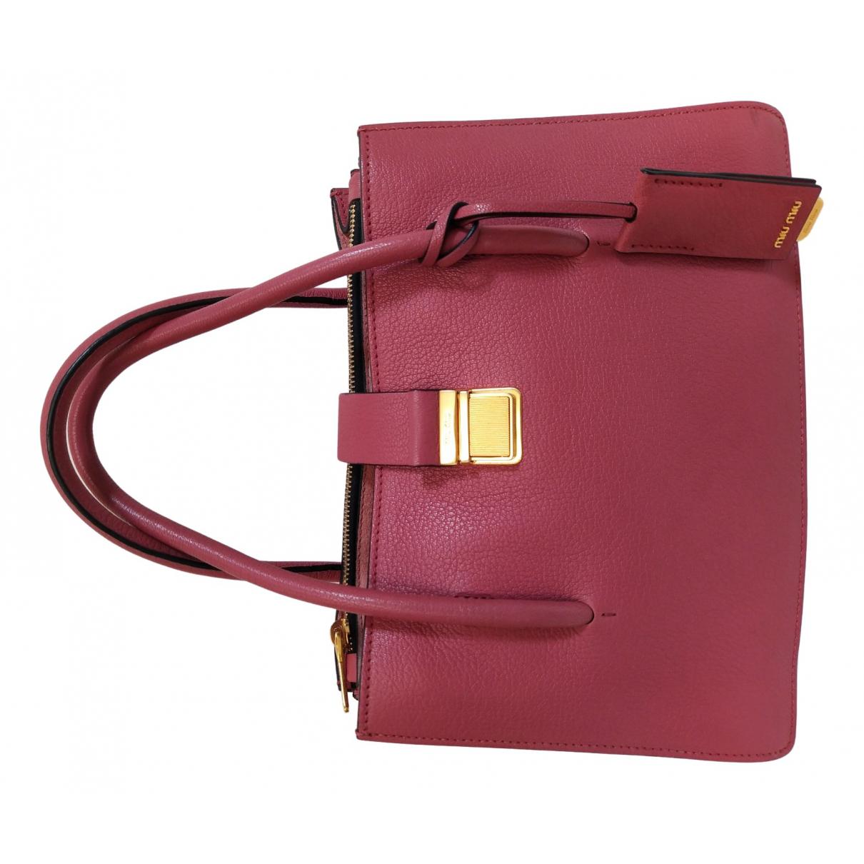 Miu Miu Madras Handtasche in  Rosa Leder