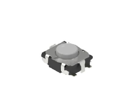 Alps Alpine Natural Button Tactile Switch, Single Pole Single Throw (SPST) 50 mA 0.4mm Surface Mount (10)