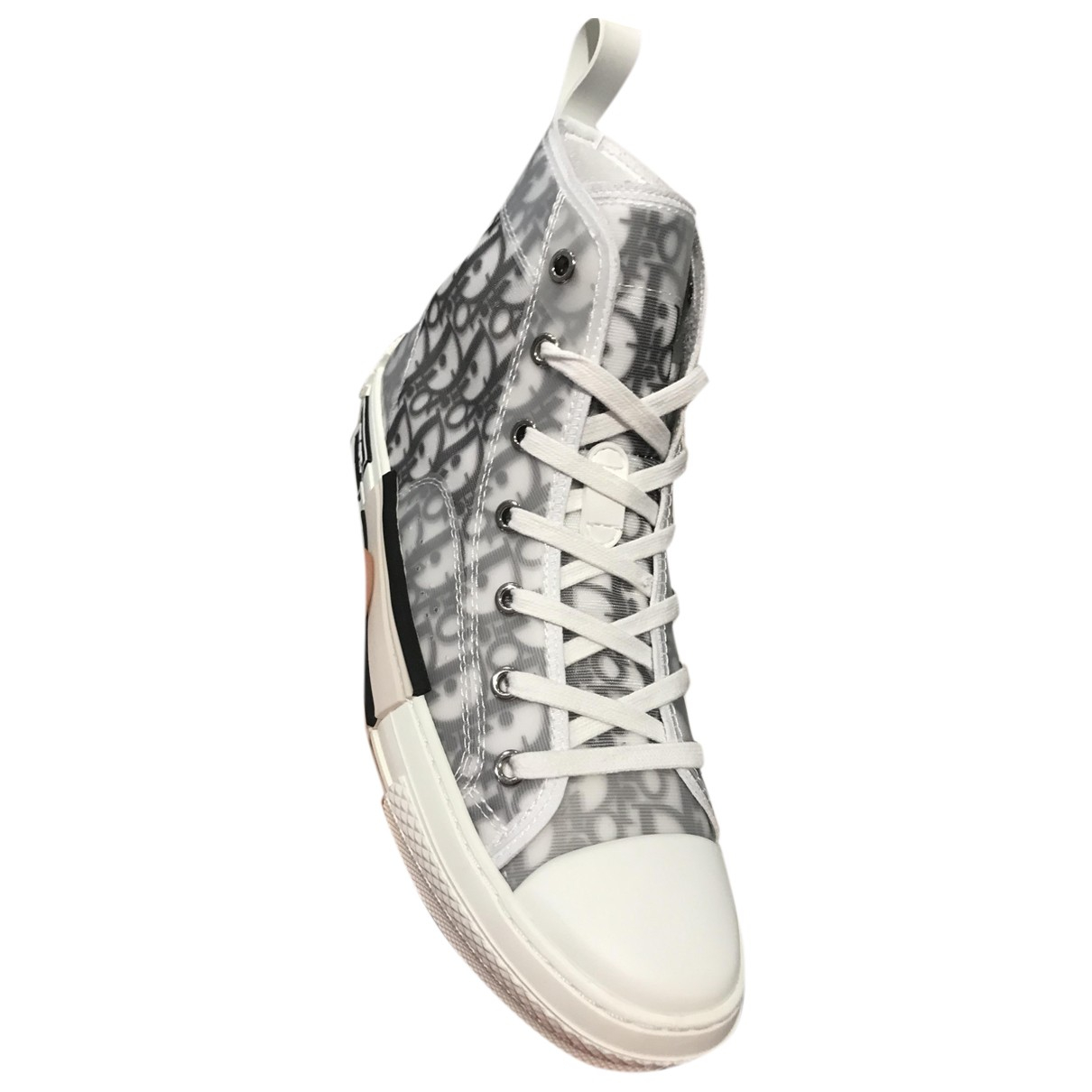 Dior - Baskets B23 pour femme en toile - blanc
