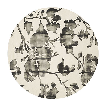 Safavieh Dip Dye Collection Jessie Floral Round Area Rug, One Size , Multiple Colors