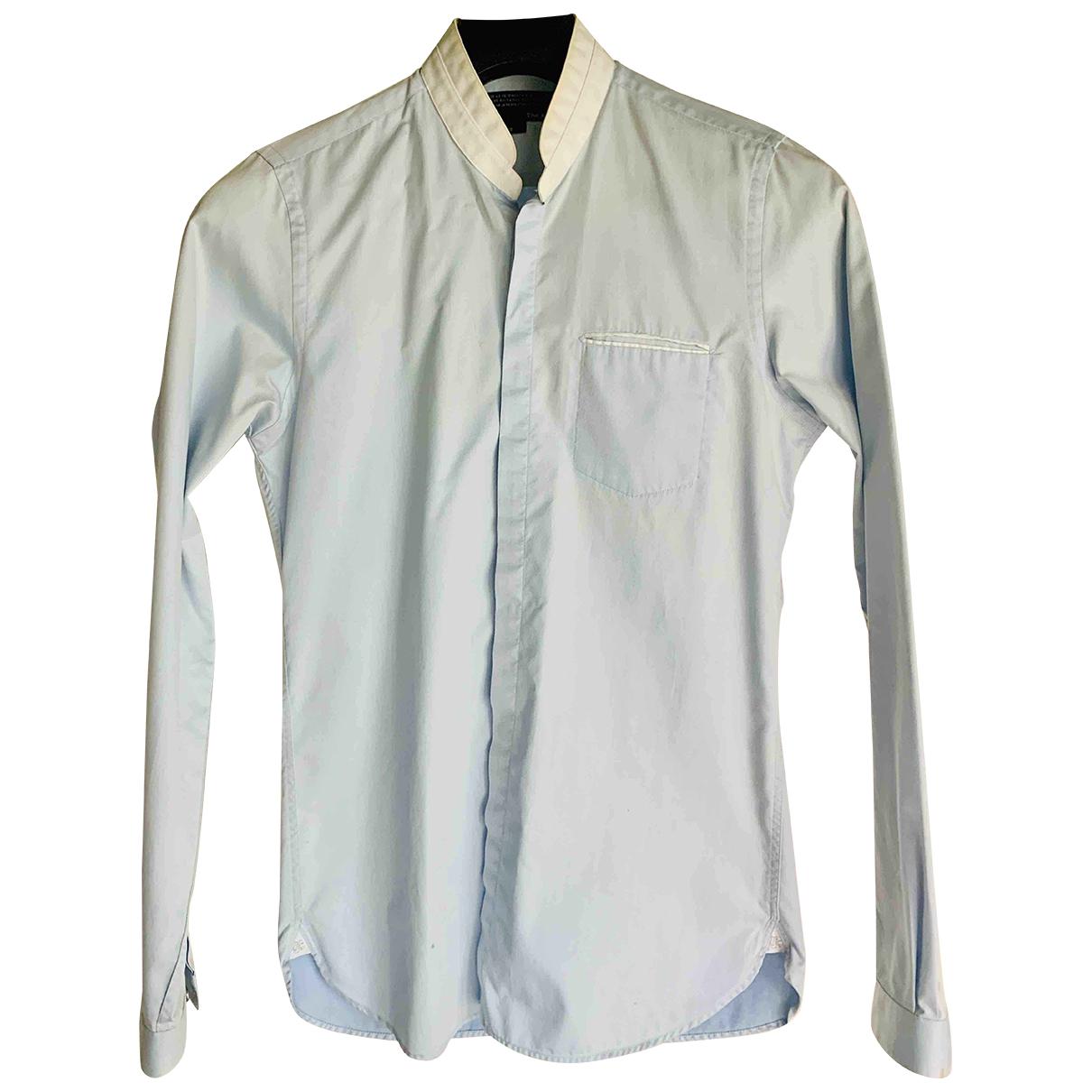 The Kooples - Chemises   pour homme en coton - bleu