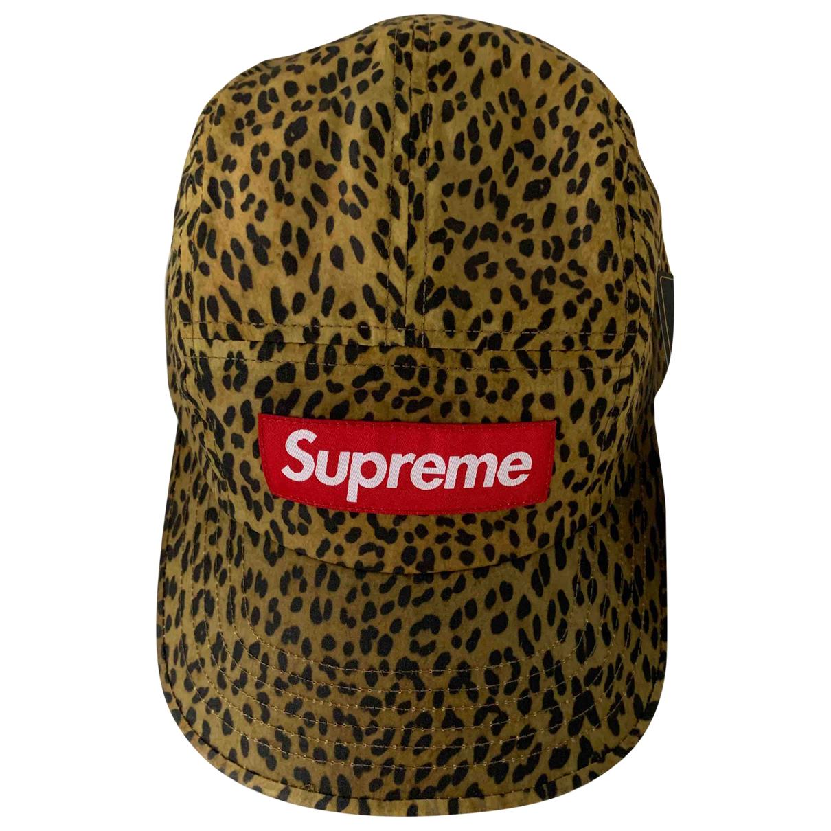 Supreme - Chapeau & Bonnets   pour homme en coton - dore