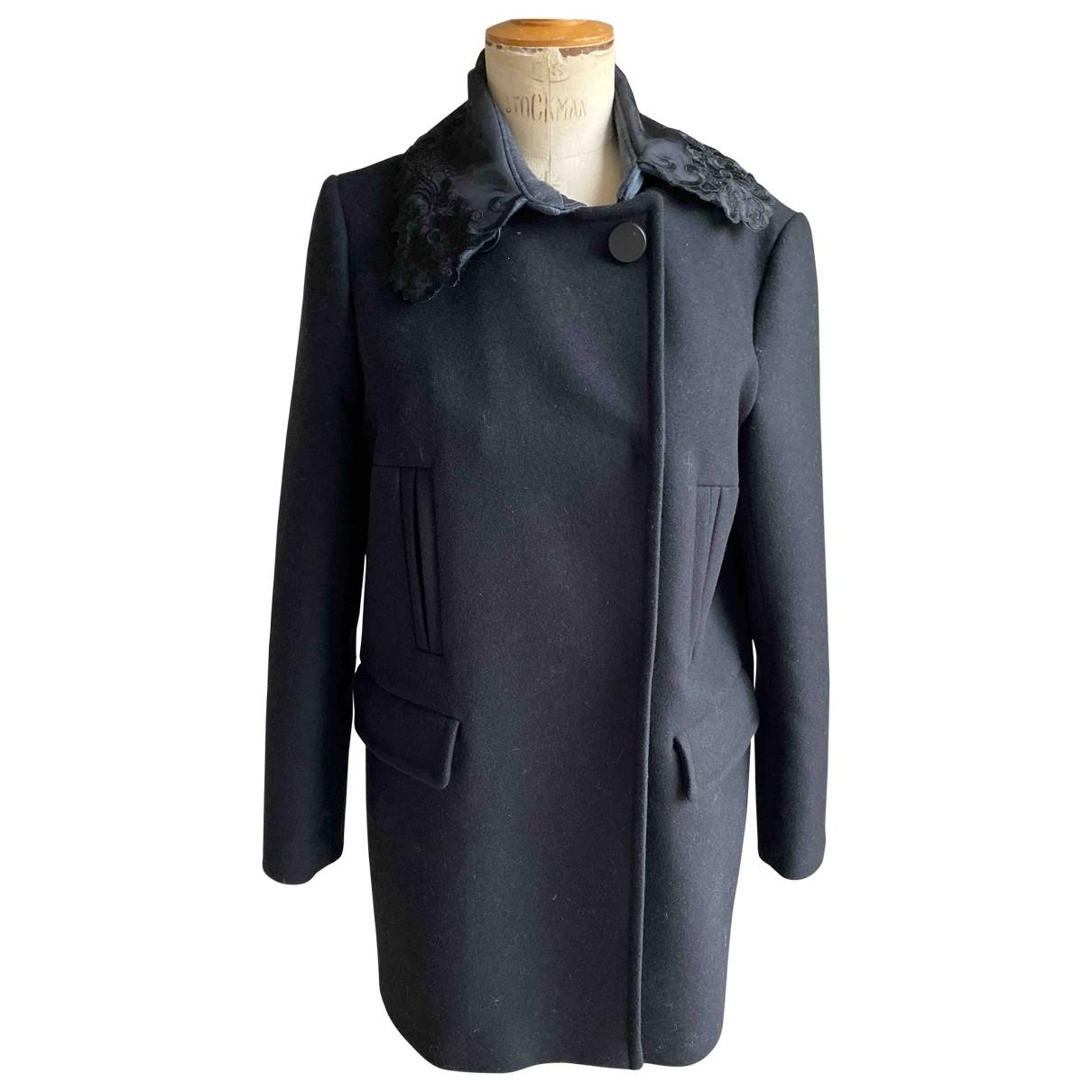 Tara Jarmon \N Black Wool coat for Women 40 FR