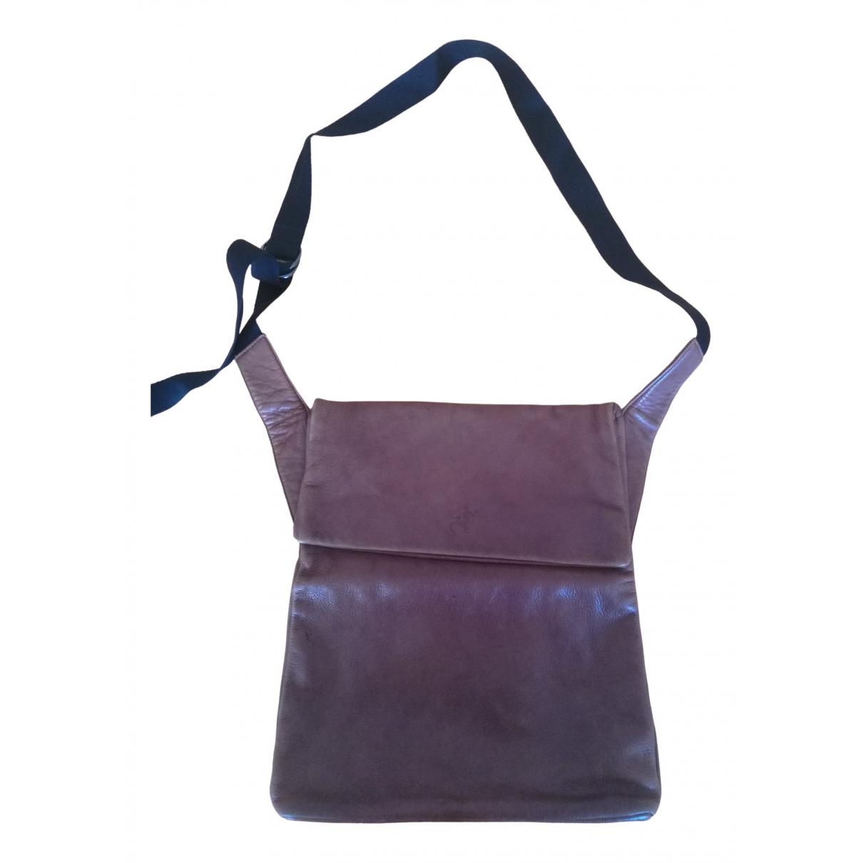 Agnès B. \N Brown Leather handbag for Women \N