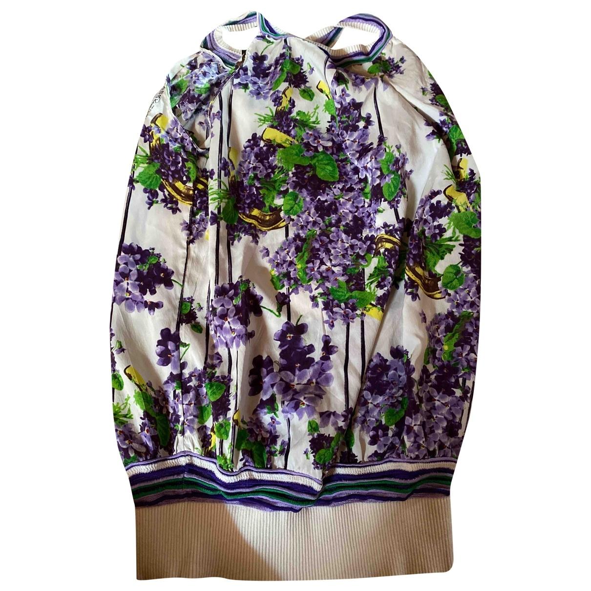 Roberto Cavalli - Top   pour femme en velours - violet